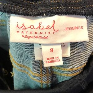 Isabel Maternity by Ingrid & Isabel Jeans - Cropped Distressed Denim Maternity Jegging
